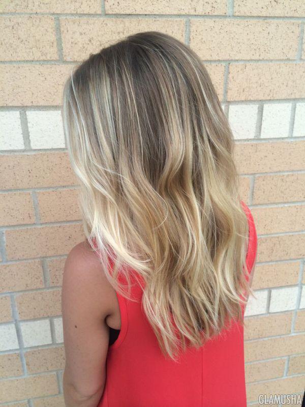 Затемненные корни на коротких волосах